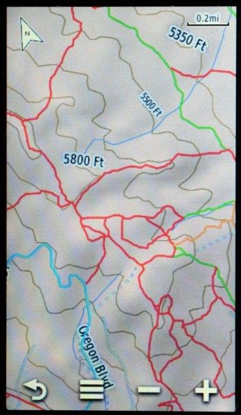 Here S A Screenshot From A Garmin Montana Showing What It Looks Like With These Trail Maps Red Orange And Green Overlaid Onto The Built In Topo Map